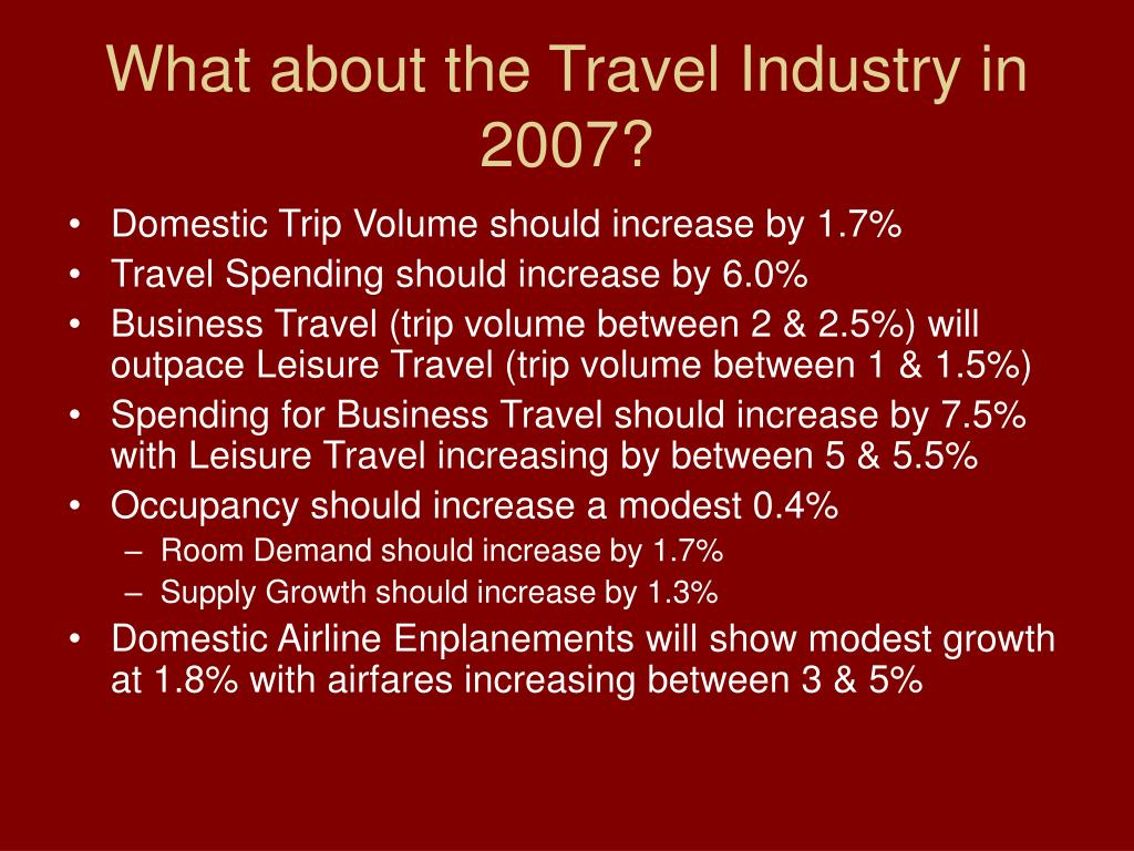 What about the Travel Industry in 2007?