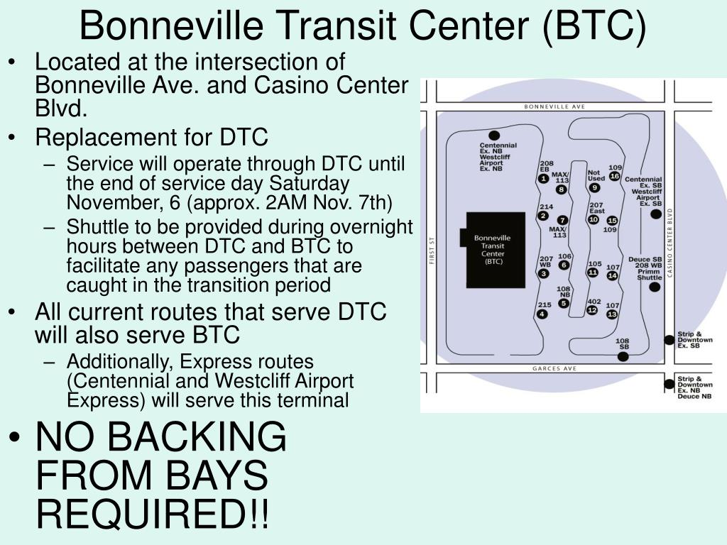 Bonneville Transit Center (BTC)