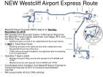 new westcliff airport express route