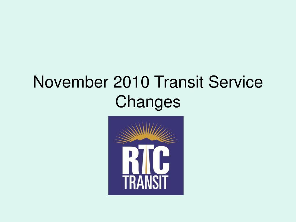 november 2010 transit service changes