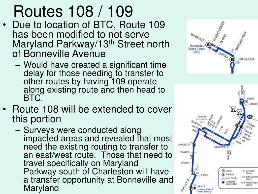 Routes 108 / 109