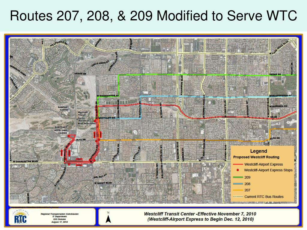 Routes 207, 208, & 209 Modified to Serve WTC