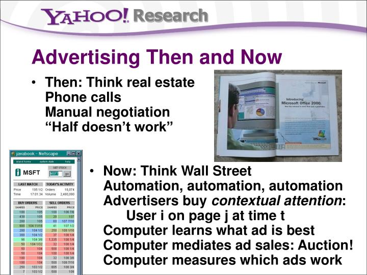 Advertising then and now