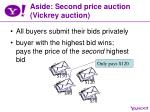 aside second price auction vickrey auction