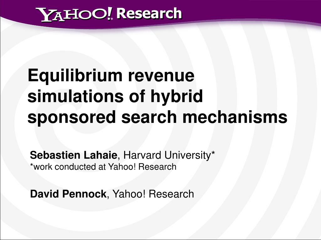 Equilibrium revenue simulations of hybrid sponsored search mechanisms