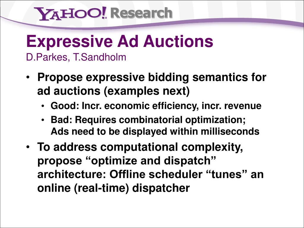 Expressive Ad Auctions