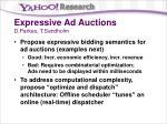 expressive ad auctions d parkes t sandholm