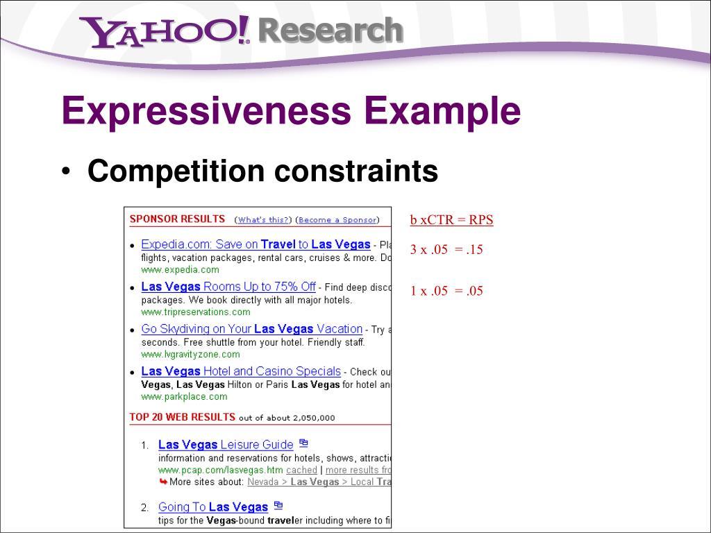 Expressiveness Example