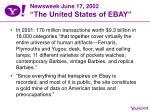 newsweek june 17 2002 the united states of ebay