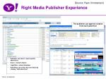 right media publisher experience