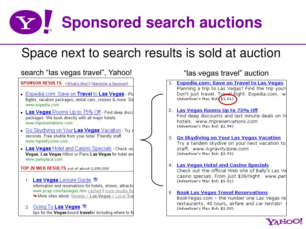 "search ""las vegas travel"", Yahoo!"
