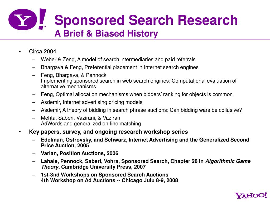 Sponsored Search Research