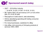 sponsored search today