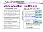 yahoo allocation bid ranking