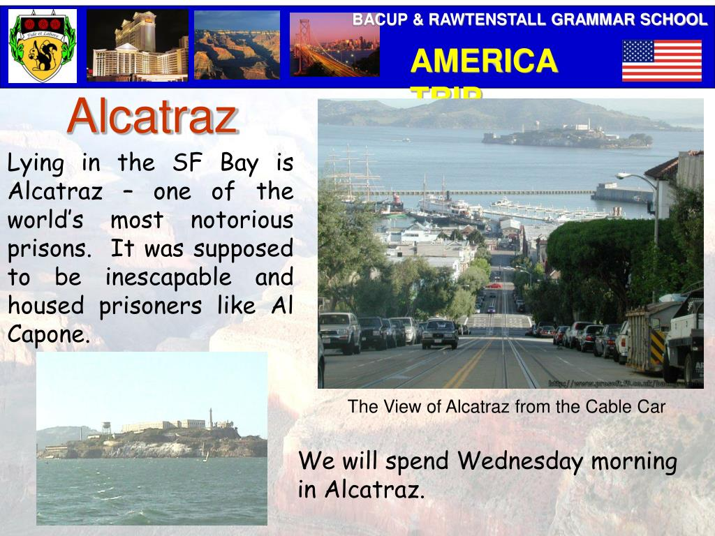 The View of Alcatraz from the Cable Car