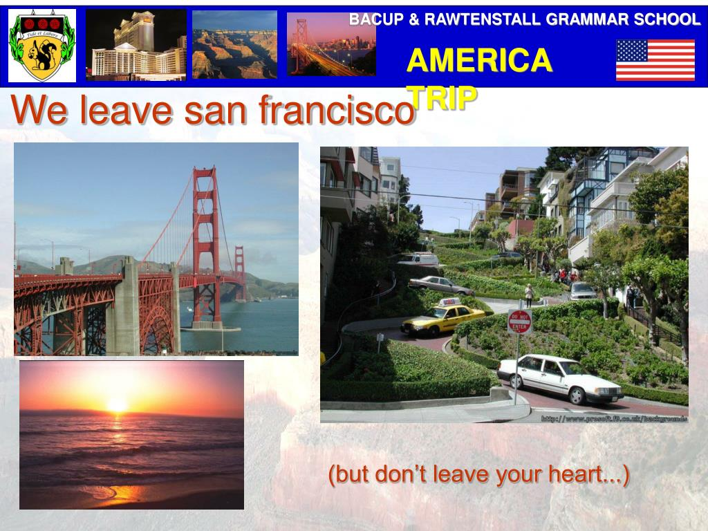 We leave san francisco