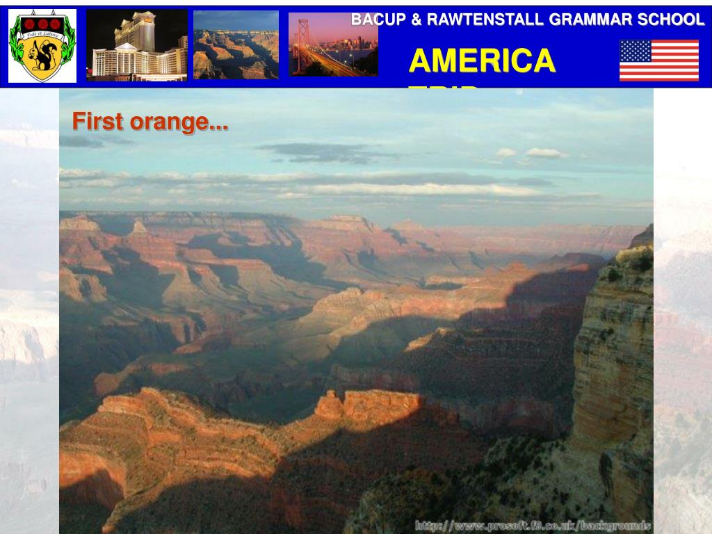 First orange...