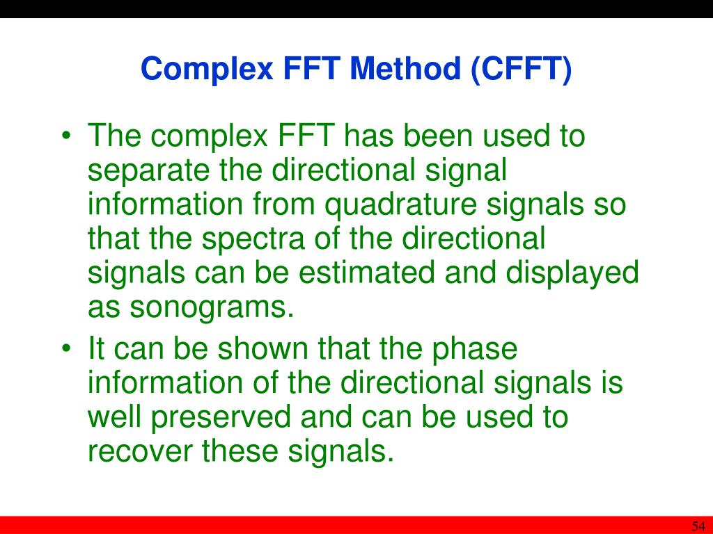 Complex FFT Method (CFFT)