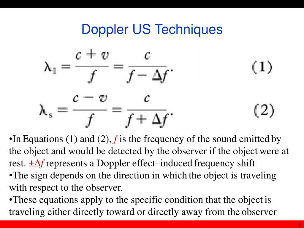 Doppler US Techniques