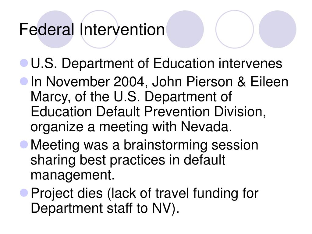 Federal Intervention