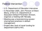 federal intervention
