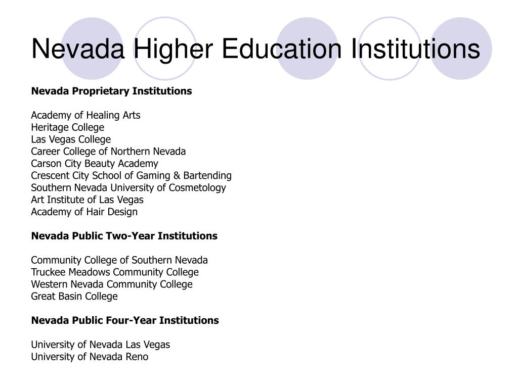 Nevada Higher Education Institutions