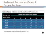 dedicated bus lane vs general purpose bus lane38