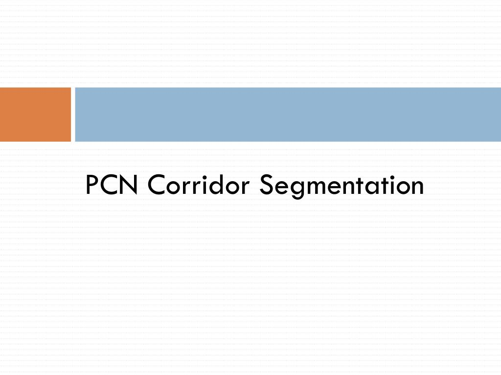 PCN Corridor Segmentation