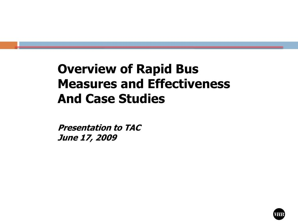 Overview of Rapid Bus Measures and Effectiveness