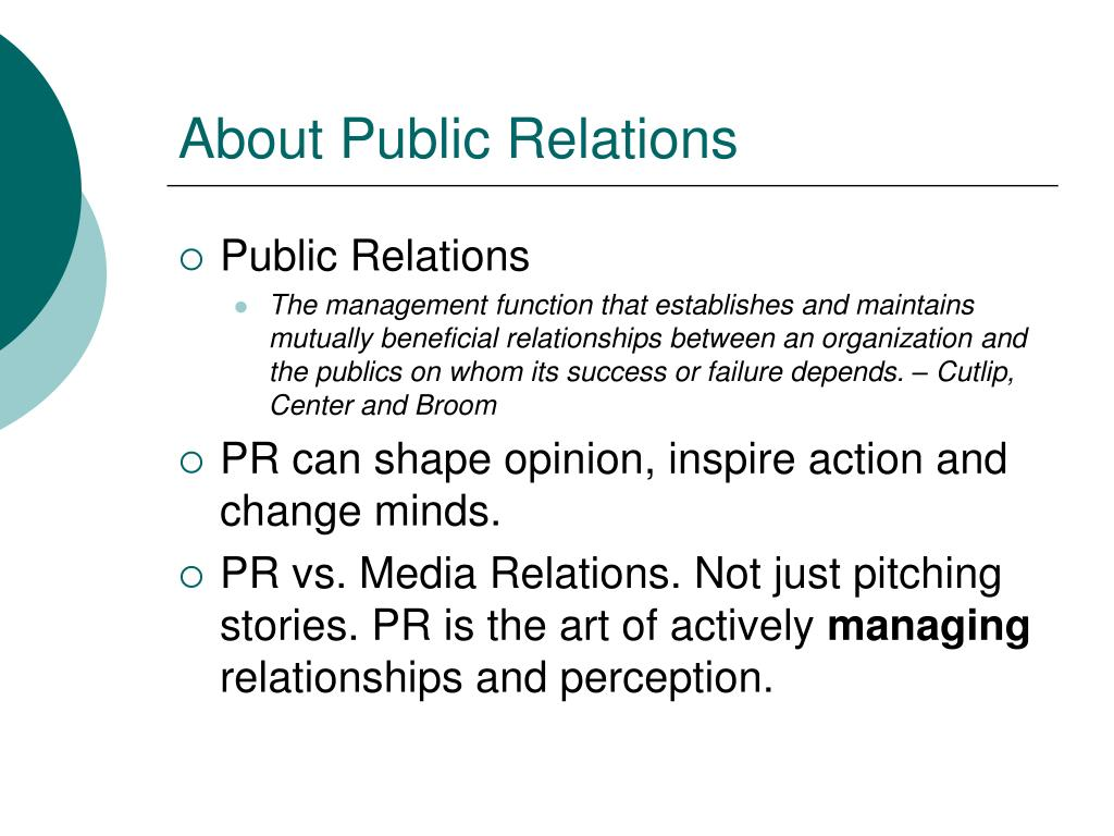 About Public Relations