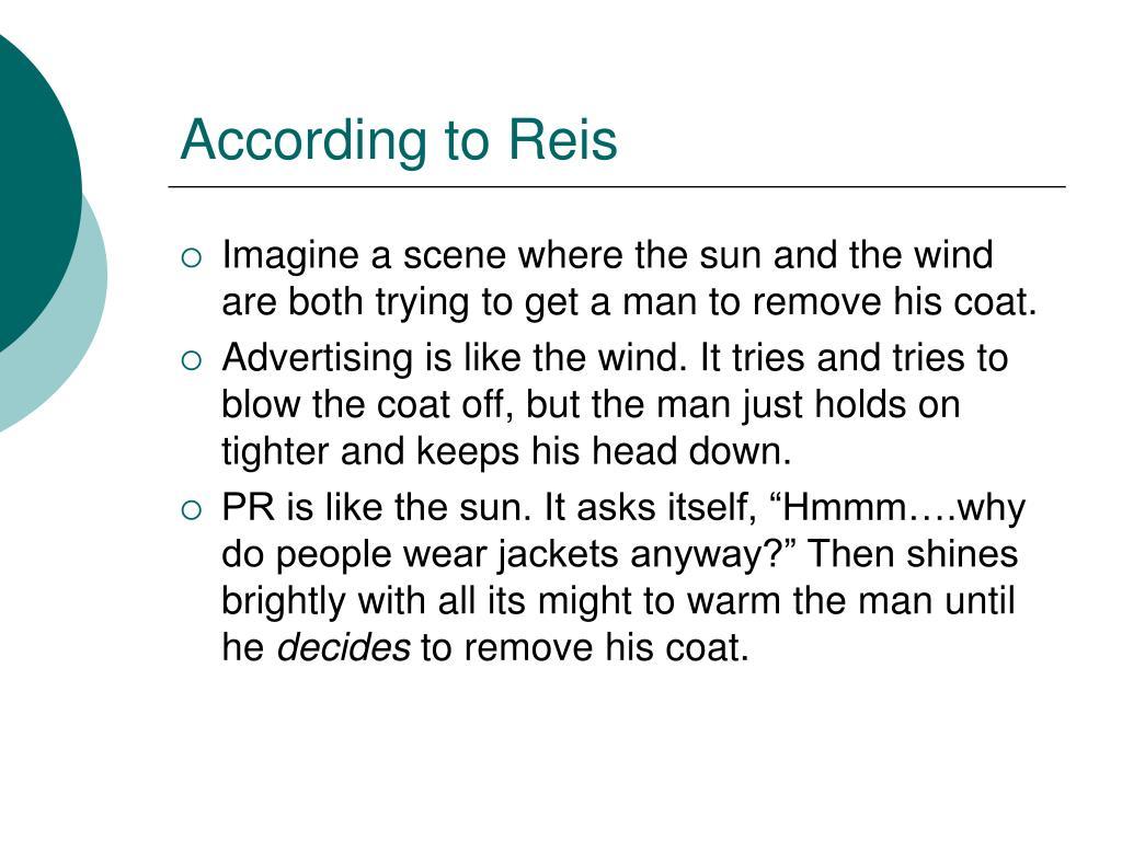 According to Reis