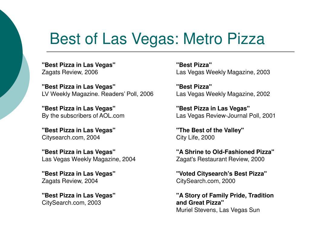 Best of Las Vegas: Metro Pizza
