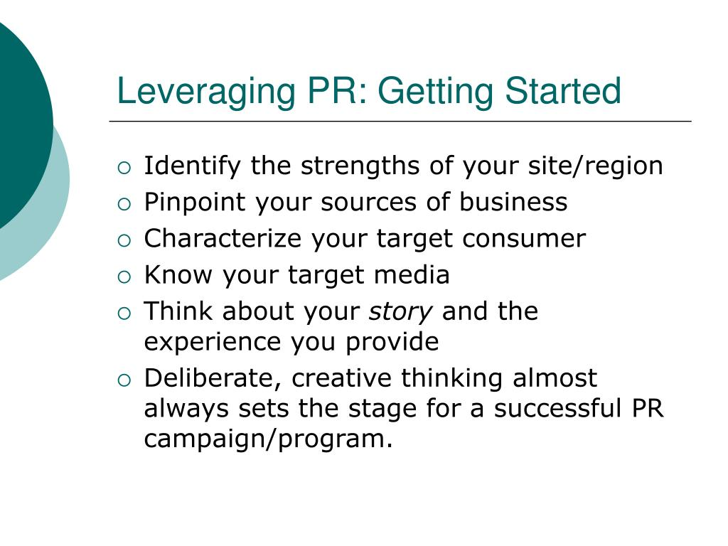 Leveraging PR: Getting Started