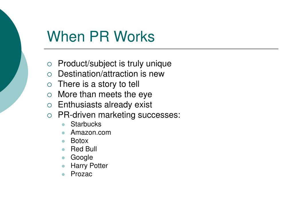 When PR Works