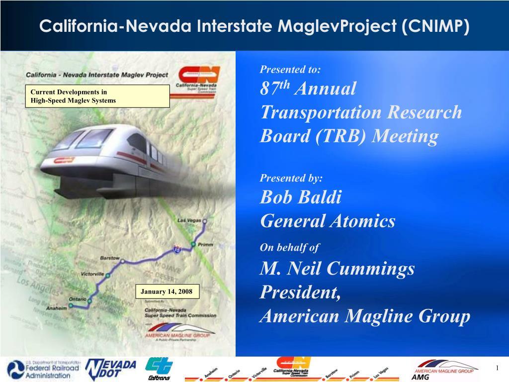 California-Nevada Interstate MaglevProject (CNIMP)