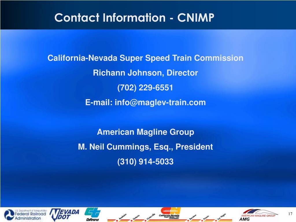 Contact Information - CNIMP