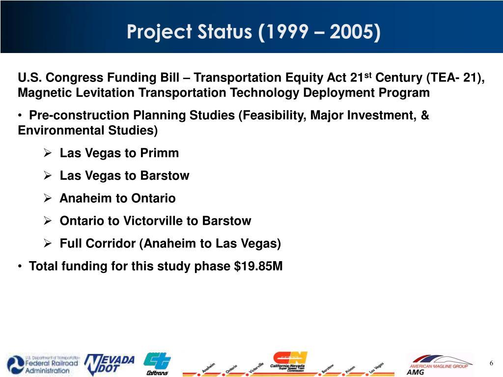 Project Status (1999 – 2005)