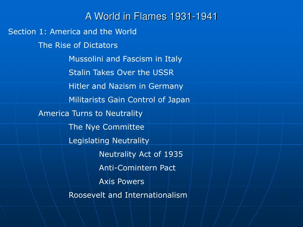 A World in Flames 1931-1941