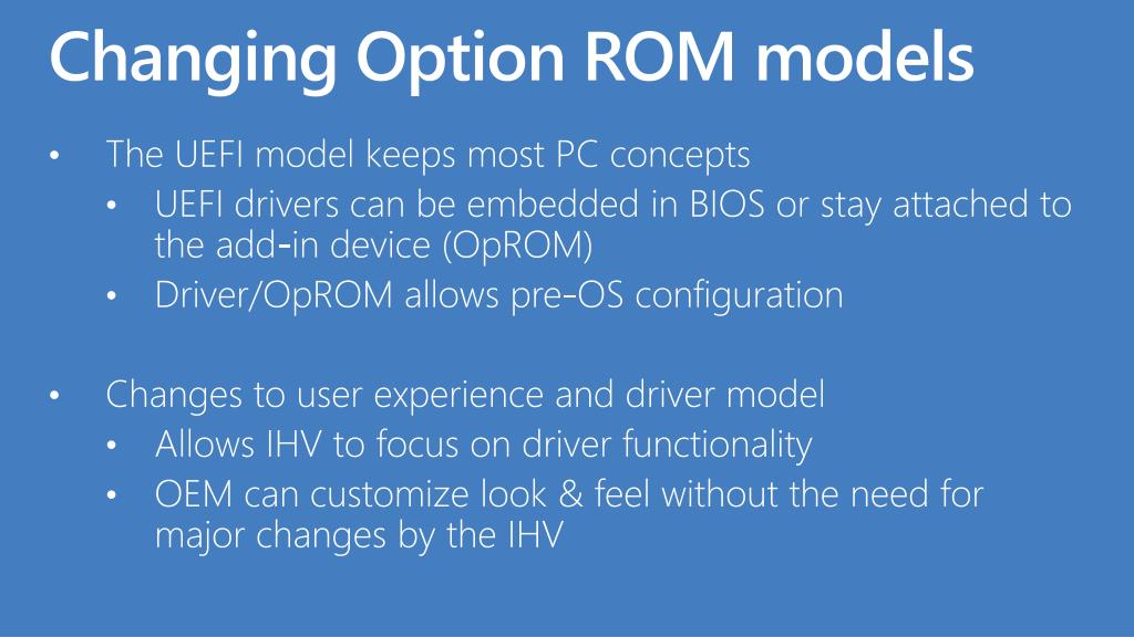 Changing Option ROM models