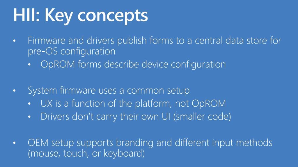 HII: Key concepts