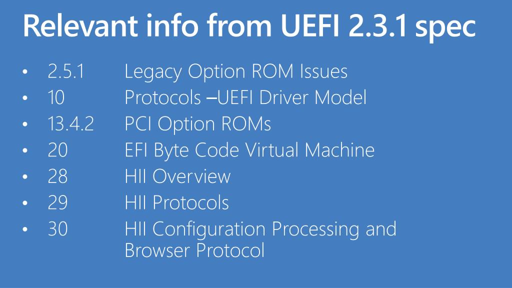 Relevant info from UEFI 2.3.1 spec