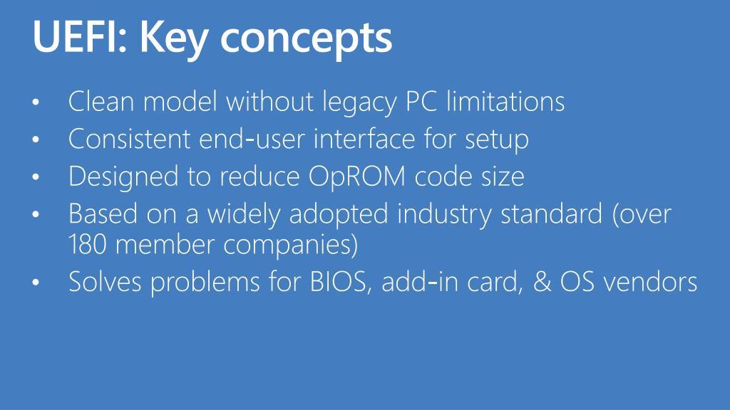 UEFI: Key concepts