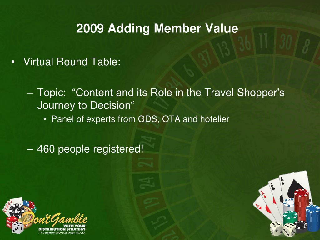 2009 Adding Member Value