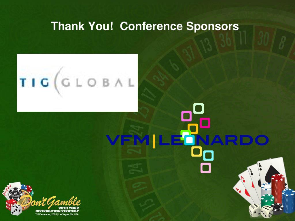 Thank You!  Conference Sponsors