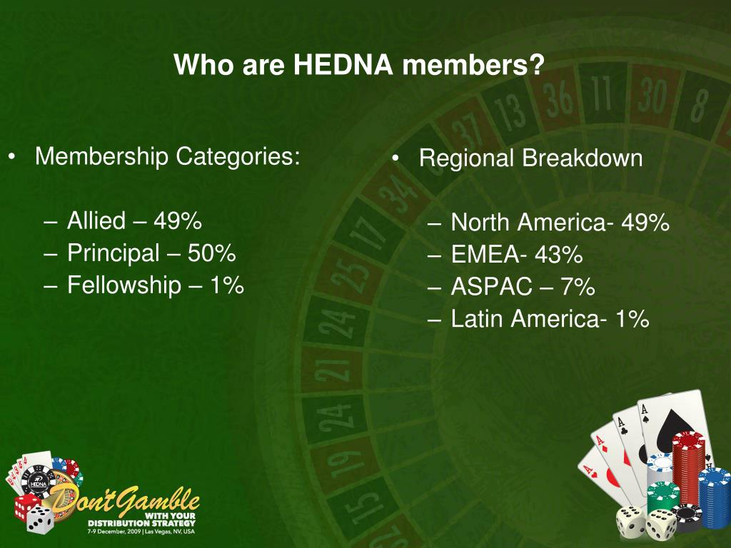 Who are HEDNA members?
