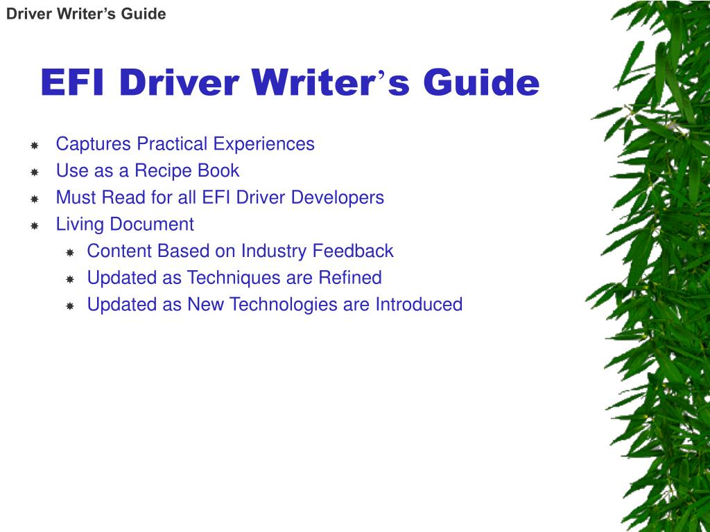 Driver Writer's Guide