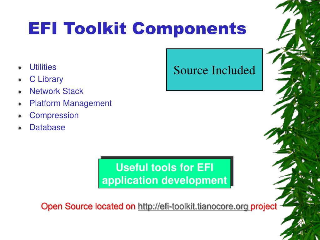 EFI Toolkit Components