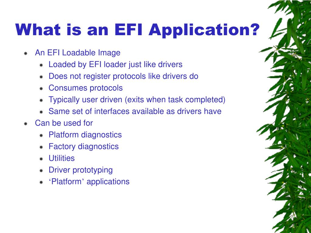 What is an EFI Application?