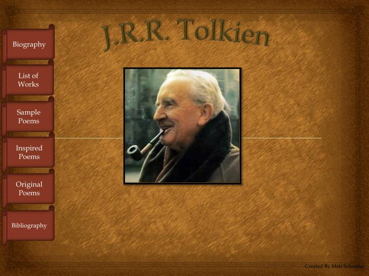 J.R.R. Tolkien Essays (Examples)