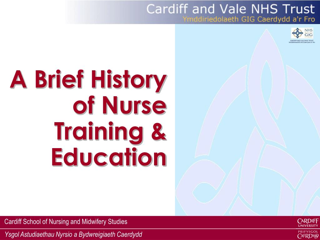 A Brief History of Nurse Training & Education